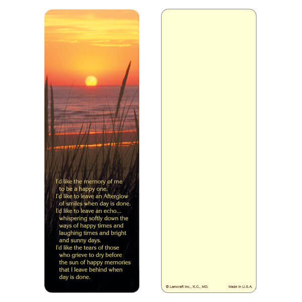 "3"" x 9"" Sea Oats bookmark, Afterglow"