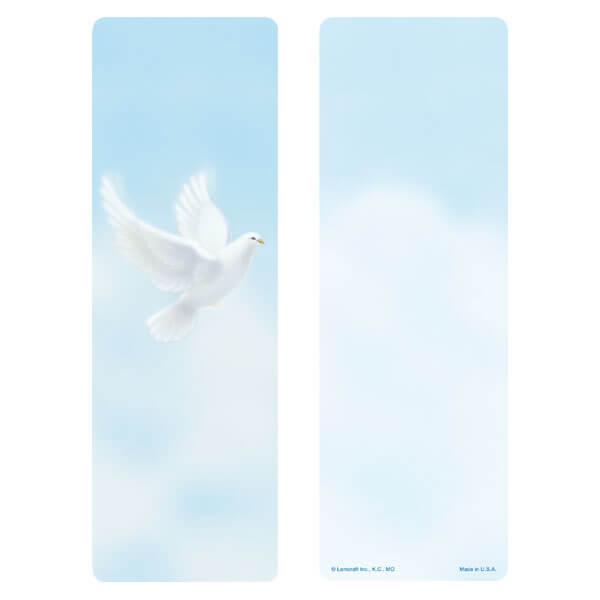 "3"" x 9"" Dove bookmark,No Verse"