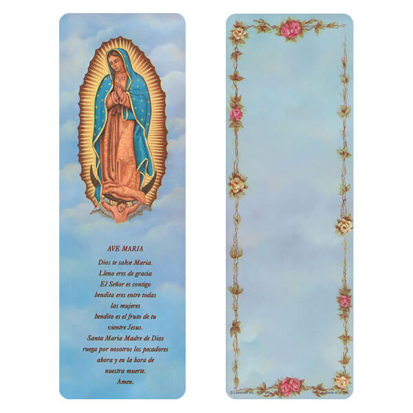 "3"" x 9"" Lady of Guadalupe bookmark, Ave Maria"