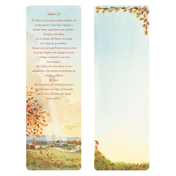 "3"" x 9"" Meadow bookmark, Santo 23"