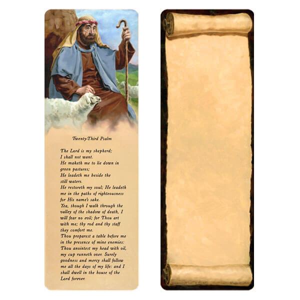 "3"" x 9"" Shepherd bookmark, 23rd Psalm"
