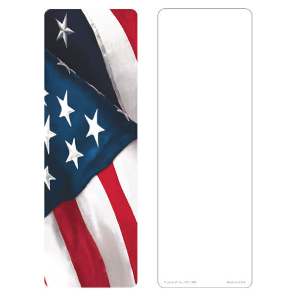 "3"" x 9"" U.S. Flag bookmark, No Verse"