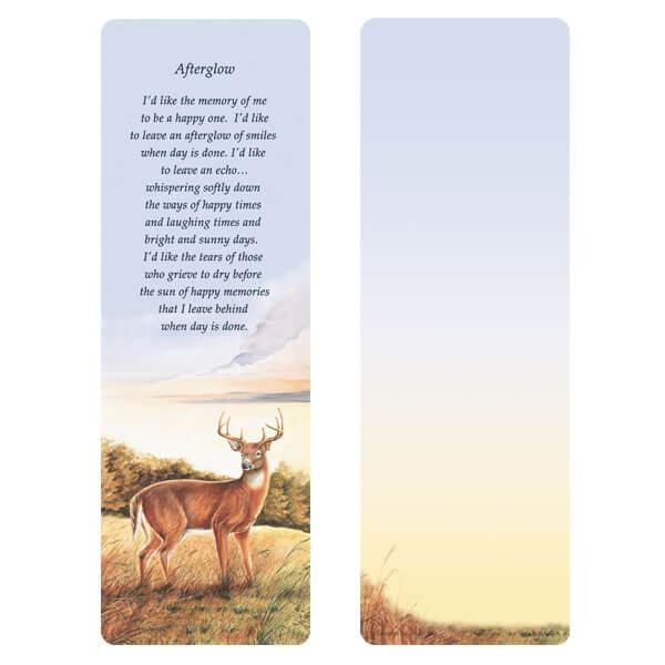 """3"""" x 9"""" Deer bookmark, Afterglow"""