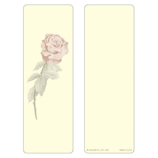 "3"" x 9"" Single Rose bookmark, No Verse"
