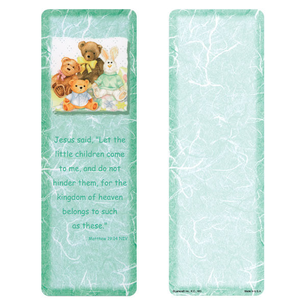 "3"" x 9"" Child's Friends bookmark, Matthew 19:14"