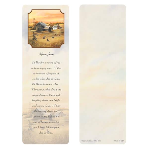 "3"" x 9"" Homestead (Quail) bookmark, Afterglow"