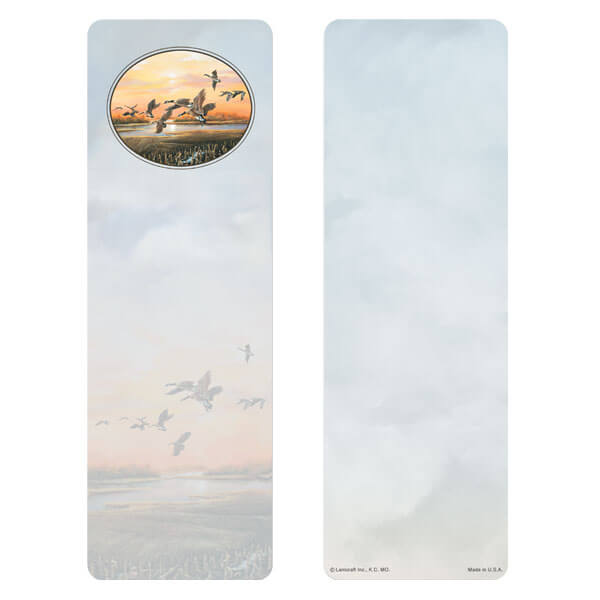 "3"" x 9"" Twilight Geese bookmark, No Verse"