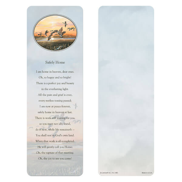"3"" x 9"" Twilight Geese bookmark, Safely Home"