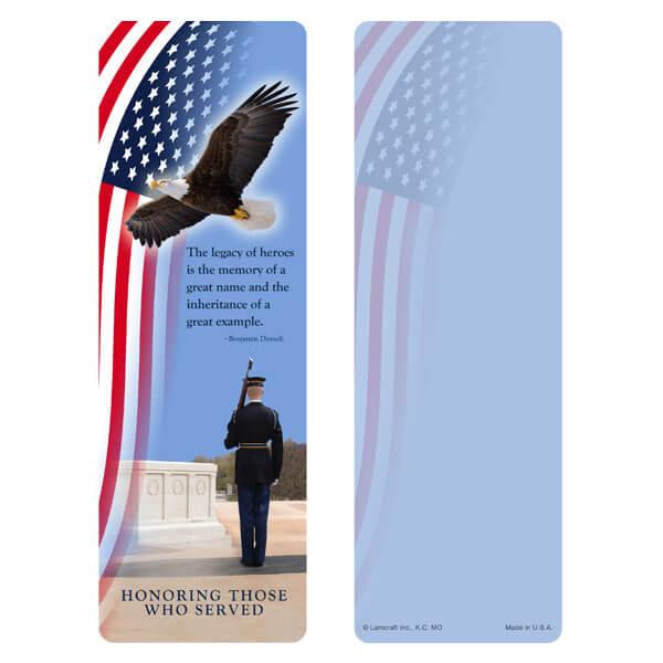 "3"" x 9"" Honor Guard bookmark, Legacy"