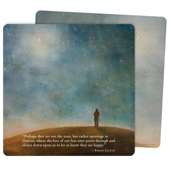 """5"""" x 5"""" Night Sky Mini-Album Premium Memorial Card with Eskimo Legend verse"""