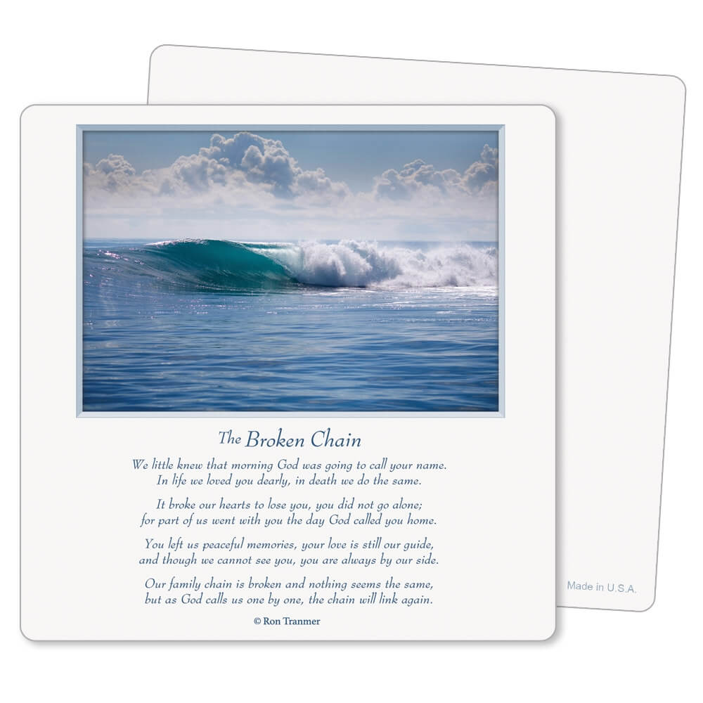 "5"" x 5"" Tranquil Ocean PMC Mini-Album, Broken Chain"