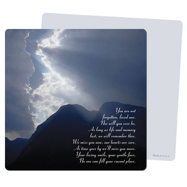 "5"" x 5"" Clouds & Sea PMC Mini-Album, You Are Not Forgotten"
