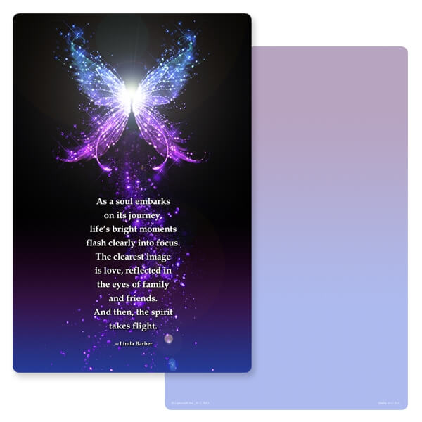 "6"" x 9"" Butterfly of Light PMC Album, Soul's Journey"
