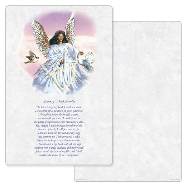 """6"""" x 9"""" Angel With Dove PMC Album, 23rd Psalm"""