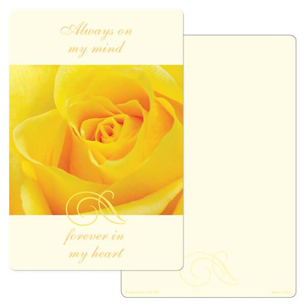 "6"" x 9"" Yellow Rose PMC Album, Always On My Mind"