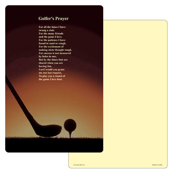 "6"" x 9"" Golf PMC Album, Golfer's Prayer"