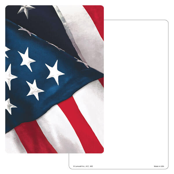"6"" x 9"" U.S. Flag PMC Album, No Verse"