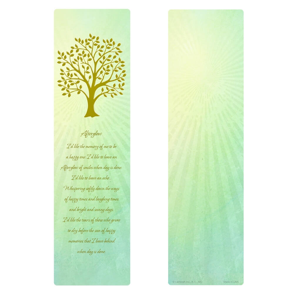 """3"""" x 11"""" Radiant Tree of Life large bookmark, Afterglow verse"""