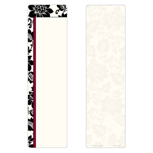 "3"" x 11"" Silhouette Expressions large bookmark, No Verse"