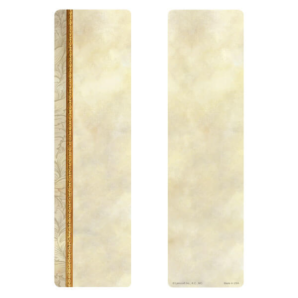 "3"" x 11"" Antique Border large bookmark, No Verse"