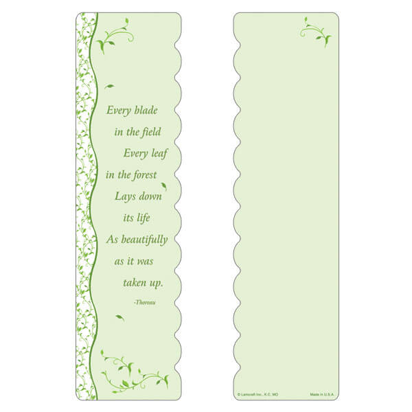 "3"" x 11"" Every Leaf large bookmark, Every Blade, Every Leaf"