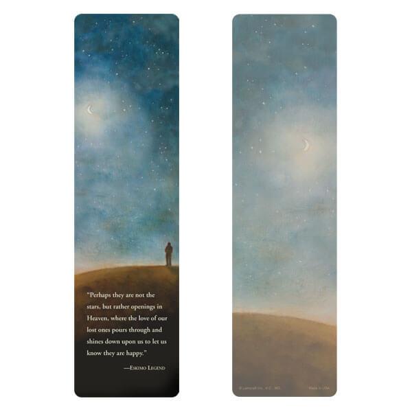 """3"""" x 11"""" Night Sky large bookmark, Eskimo Legend"""