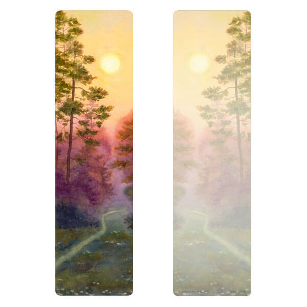 "3"" x 11"" Forest Path PMC Large Bookmark, No Verse"