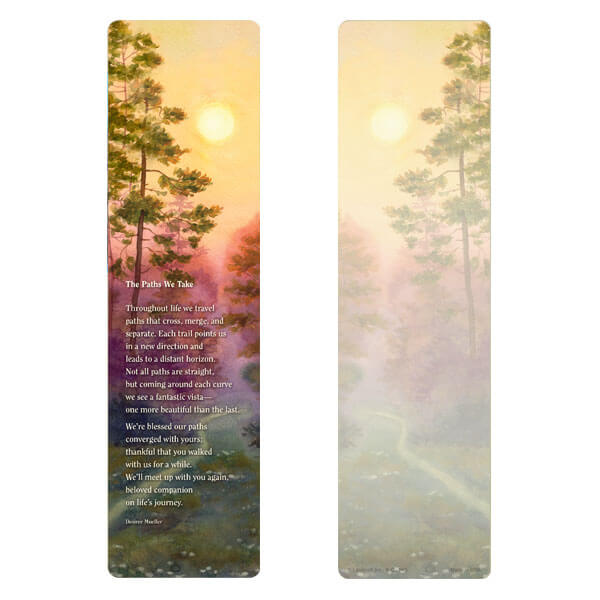 "3"" x 11"" Forest Path large bookmark, The Paths We Take"