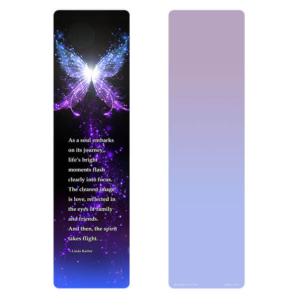 "3"" x 11"" Butterfly of LIght large bookmark, Soul's Journey"