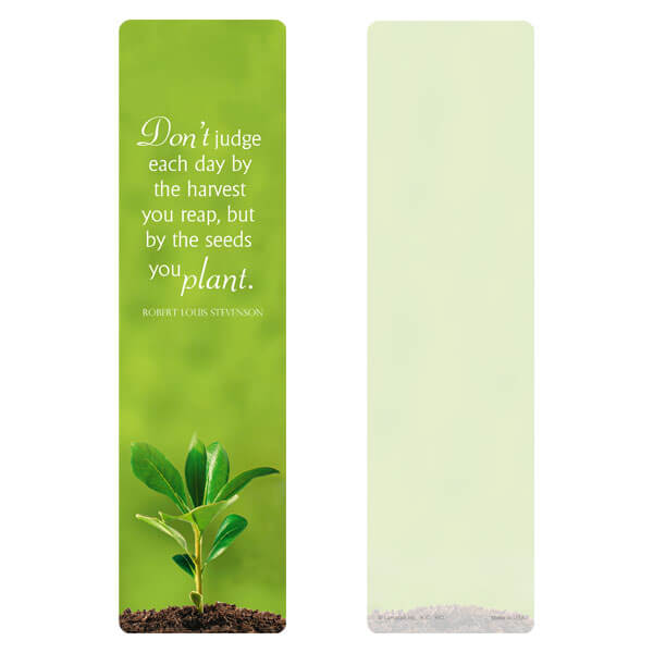 "3"" x 11"" Growth large bookmark, Seeds You Plant"