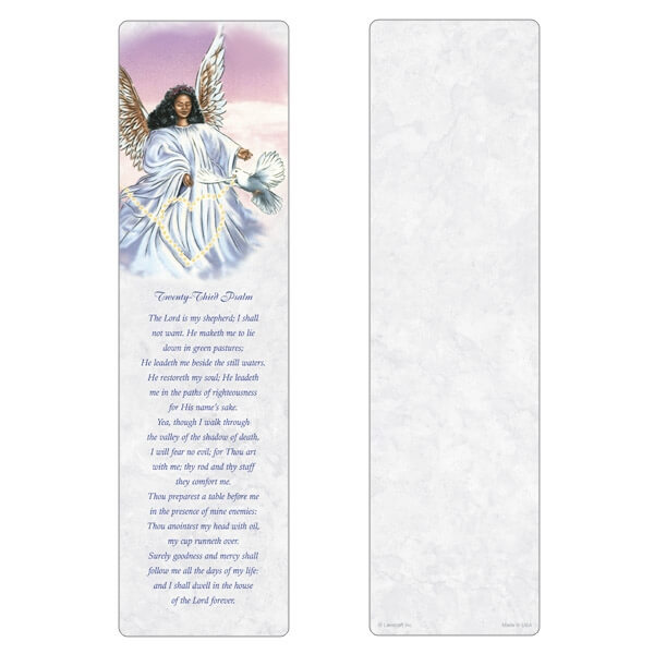 "3"" x 11"" Angel With Dove PMC, 23rd Psalm"