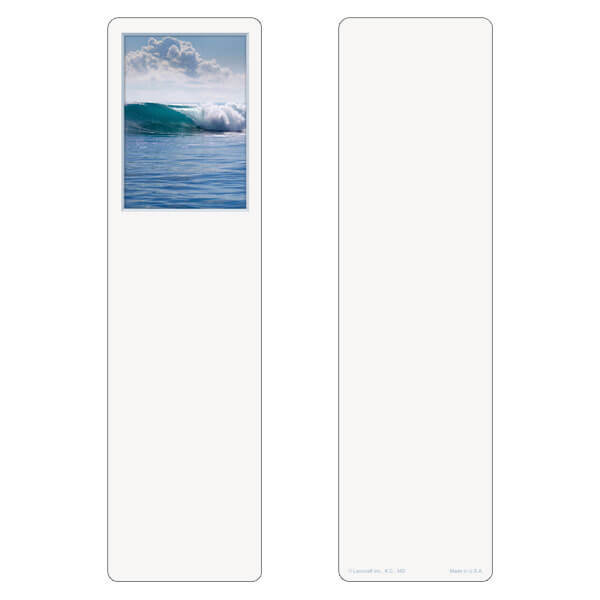 "3"" x 11"" Tranquil Ocean large bookmark, No Verse"