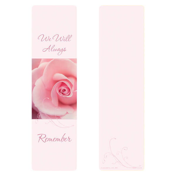 "3"" x 11"" Endless large bookmark, We Will Always Remember"