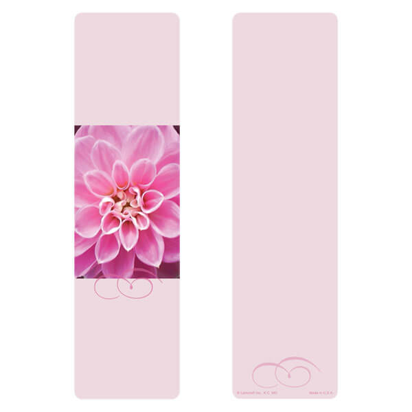 "3"" x 11"" Dahlia large bookmark, No Verse"