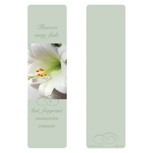 """3"""" x 11"""" Lily large bookmark, Fragrant Memories"""