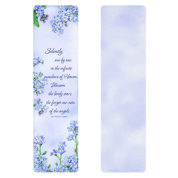 "3"" x 11"" Forget-Me-Not PMC Large Bookmark, Meadows of Heaven"
