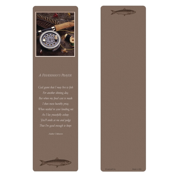 "3"" x 11"" Fly Fishing PMC Large Bookmark, A Fisherman's Prayer"