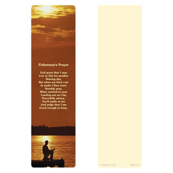 "3"" x 11"" Fisherman large bookmark, Fisherman's Prayer"