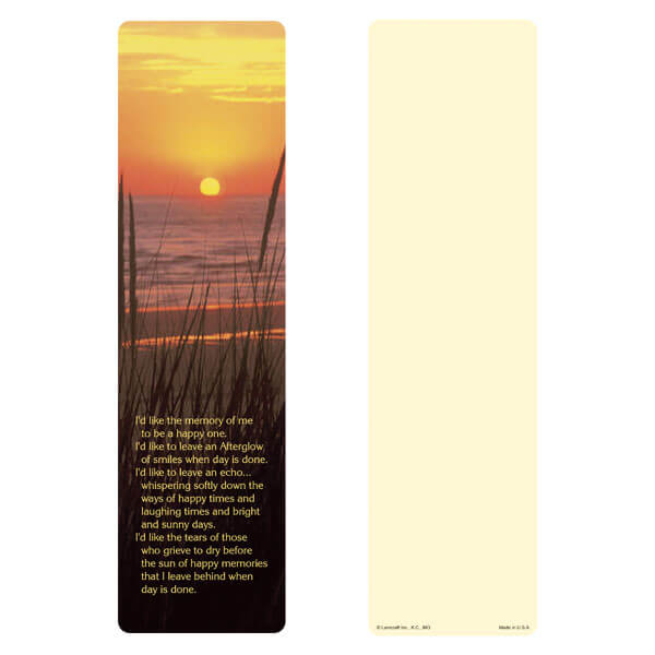 """x 11"""" Sea Oats large bookmark, Afterglow"""