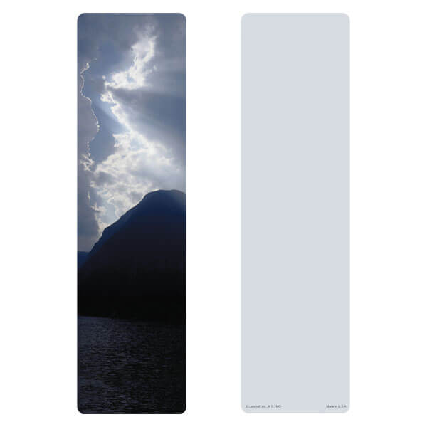 "3"" x 11"" Clouds & Sea large bookmark, No Verse"