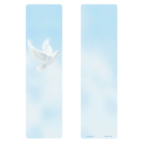 "3"" x 11"" Dove large bookmark, No Verse"
