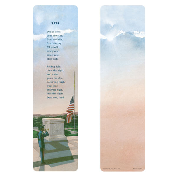 "3"" x 11"" Veteran's large bookmark, Taps"