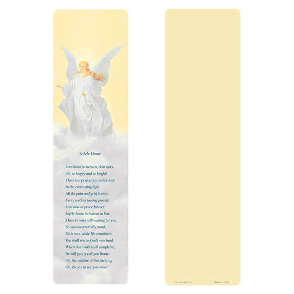 "3"" x 11"" Guardian Angel Large Bookmark, Safely Home"
