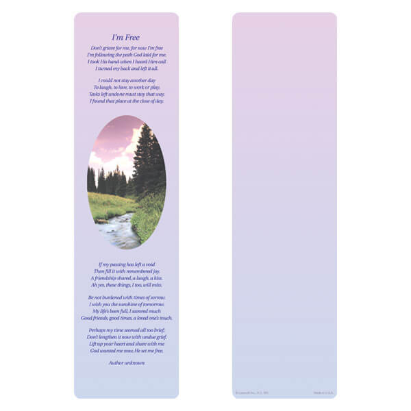 "3"" x 11"" Wilderness large bookmark, I'm Free"