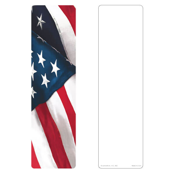 "3"" x 11"" U.S. Flag large bookmark, No Verse"