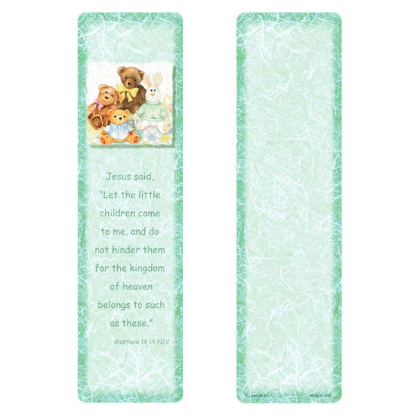"3"" x 11"" Child's Friends Large Bookmark, Matthew 19:14"