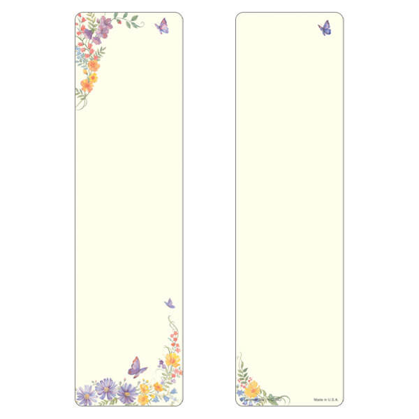 "3"" x 11"" Butterfly large bookmark, No Verse"