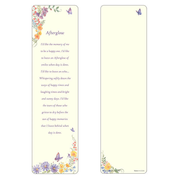 "3"" x 11"" Butterfly large bookmark, Afterglow"