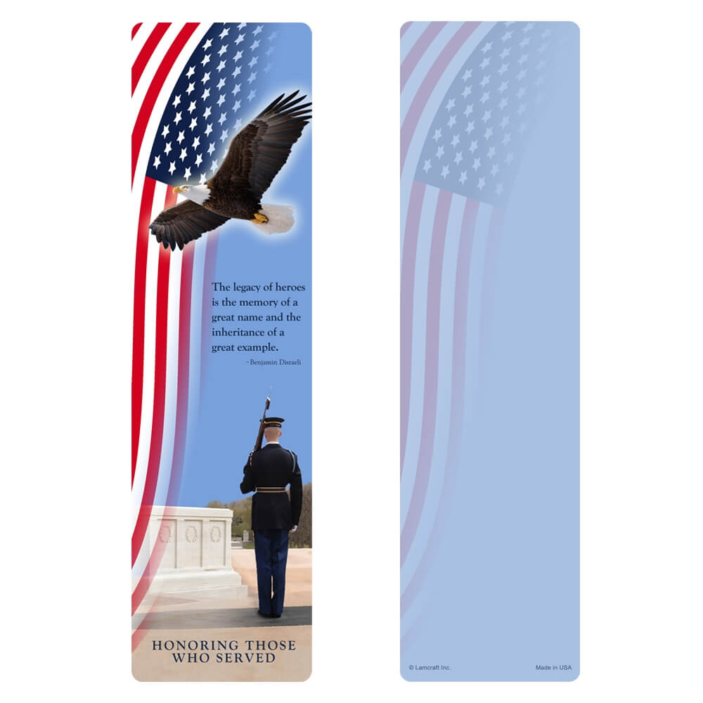 "3"" x 11"" Honor Guard large bookmark, Legacy"