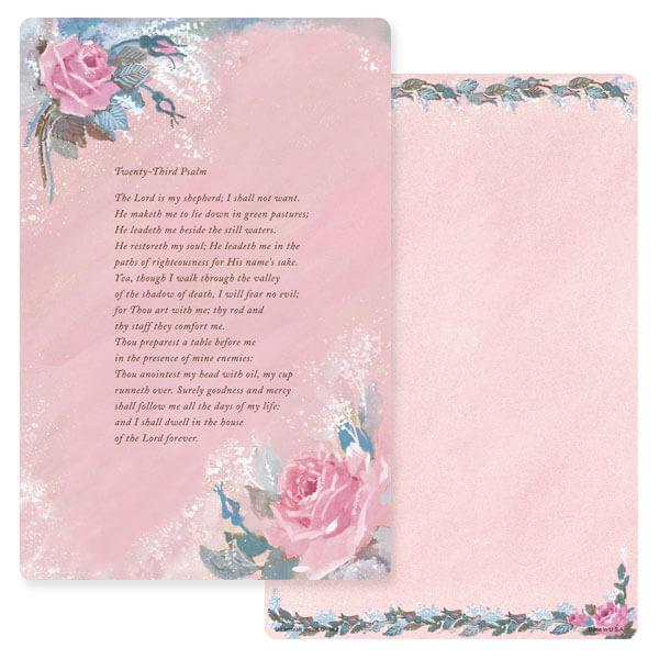 "6"" x 9"" Rose-Rose Color Album, 23rd Psalm"
